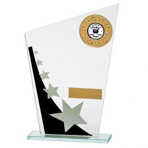 Mega Star Multisport Jade Glass Award Black & Silver 205mm